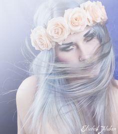 Self Portrait #roses #blue #hair