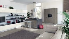 cocina moderna color gris