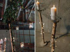 Ljusdekoration | candle light wedding ceremony