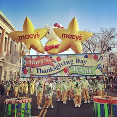 All lined up and ready to start the Macy's Thanksgiving Day Parade. #macysparade #whyimthankful #NYC