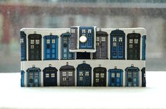 Women's Wallet   Dr Who Tardis custom handmade vegan wallet cotton. $55.00, via Etsy.