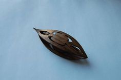 Wooden Tatting Shuttle With Sharp Pick And Cut Outs Hand Made