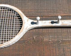 Image result for tennis racquet coat rack