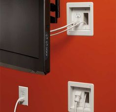 Recessed electrical outlets. I bought these for behind my TV wall unit... I love them.