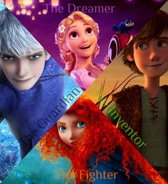 Jack Frost, Rapunzel, Hiccup and Merida