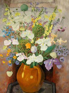 Flowers by Cedric Morris (British 1889-1982)
