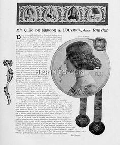 Cléo De Mérode 1904 dans Phryné à l'Olympia, Photos Reutlinger