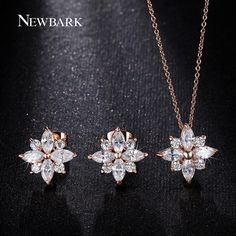 Find More Jewelry Sets Information about NEWBARK Snowflake Pendant Necklace And…