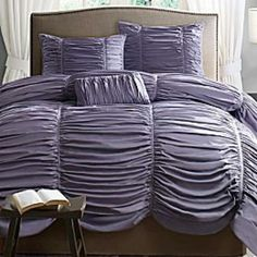 Purple and fluffy comfy.....beautiful!