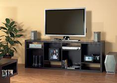 Cappuccino Hollow-Core TV Console or Bookcase