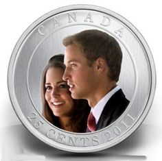 Canada Coins 25 Cents Coloured Coin 2011 The Wedding Celebration - HRH Prince William of Wales & Miss Catherine Middleton Canadian Coins, Canadian History, English Coins, Mint Coins, Gold And Silver Coins, World Coins, Canada Shopping, Rare Coins, Coin Collecting