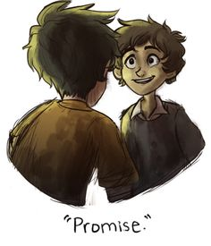 sabertooth-raccoon: Percy Jackson // Nico di Angelo: Promises Art by me ~Saber