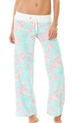 Lilly Pulitzer Linen Beach Pant in Lobstah Roll