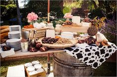 cheese table for wedding appetizers