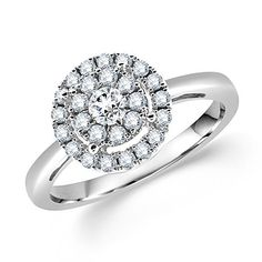 Gorgeous bridal engagement ring! | Round-cut diamonds | Our Price: $819.99 | http://www.mybridalring.com/Engagements-Rings/round-diamond-bridal-engagement-ring-los-angeles/