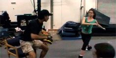 Summer Glau practicing fight choreography for the movie, Serenity (2005) j- kick through for 9 more gifs.