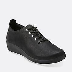 An infinitely wearable lace-up shoe from the Clarks Collection. Made from synthetic nubuck, it's super comfortable thanks to soft fabric linings, OrthoLite® cushioned footbed, and super lightweight, shock-absorbing EVA outsoles. Choose this easygoing women's shoe for longs walks, commuting, and weekend shopping.