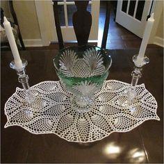Ravelry: Oval Pineapple Doily pattern by Elizabeth - Crochet Made Easy