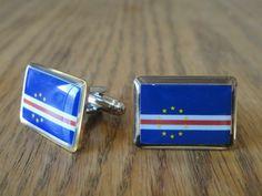 Cape Verdean Flag Cufflinks by LoudCufflinks on Etsy, $22.00