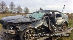 Not a BMW M3 but a bmw 3 series crashed in Latvia, Ragana