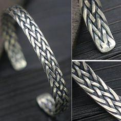 Sterling Silver Braided Cuff Bracelet