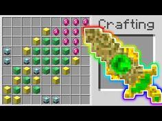 Minecraft Blueprints, Minecraft Designs, Minecraft Sword, 1 Million Dollars, Thing 1, Pocket Edition, Crafts For Kids, Learning, Youtube