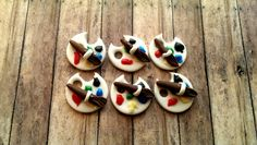 Mini Artist Fondant Cupcake Toppers. Set include 12 (one dozen)