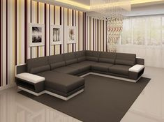 Stylish Design Furniture - Divani Casa 5098 Modern Bonded Leather Sectional Sofa, $2,300.00 (http://www.stylishdesignfurniture.com/products/divani-casa-5098-modern-bonded-leather-sectional-sofa.html/)