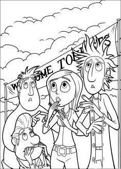 Cloudy with a Chance of Meatballs Coloring pages for kids. Printable. Online Coloring. 29