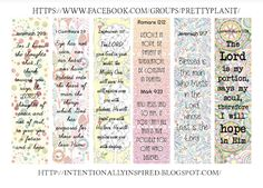 Intentionally Inspired: Free Pretty Happy Planner Scripture Sidebar Printable
