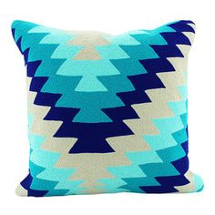 Tribe Embroidered Cushion | Turquoise | 45x45cm | Stylish Stocking Stuffers @ The Home