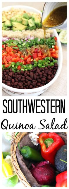 Southwestern Quinoa Salad — There is no greater way to celebrate Cinco de Mayo than with this Southwestern Quinoa Salad. It's as easy as it is flavorful without adding a ton of unnecessary calories | bitsofumami.com