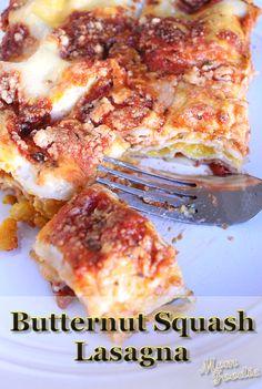 Butternut Squash Lasagna (Diet-friendly)