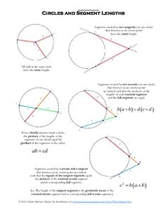 Angles in Circles (using Secants, Tangents, and Chords) Partner ...