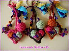 Resultado de imagen para adornos navideños faciles de hacer con material reciclable a crochet