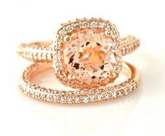 Rose Gold Morganite Rings