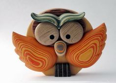 Owls made in wood by Livio Fantini an italian artist. On our website: http://www.indiefri.it/Livio-Fantini/gufo-legno
