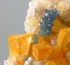 Scorodite on Fluorite - Clara Mine, Wolfach, Black Forest, Baden-Württemberg, Germany