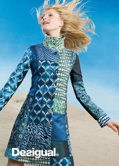 Desigual - lov it! 2010s Fashion, Girl Fashion, Womens Fashion, Cool Coats, Clothes Crafts, Quilted Jacket, Fashion Fabric, Mantel, Couture
