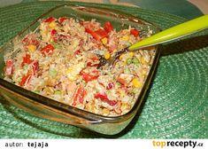 Rýžový salát s kari zálivkou recept - TopRecepty.cz Fried Rice, Fries, Ethnic Recipes, Food, Essen, Meals, Nasi Goreng, Yemek, Stir Fry Rice