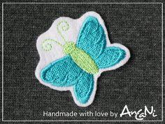 Aufnäher - Aufnäher Schmetterling ♥ Applikation Schmetterling - ein Designerstück von AnCaNi bei DaWanda