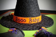 """Boo Baby"" Gender Reveal Cake (It's a Boy!!) Baby Shower Gender Reveal, Baby Gender, Halloween Gender Reveal, Gender Party, Reveal Parties, Baby Party, Diy Baby, Baby Shower Cakes, Baby Showers"