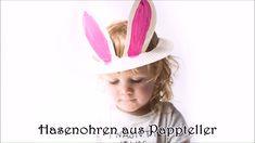 Geniale Hasenohren aus Pappteller mit Kindern zu Ostern basteln! #ostern #basteln #osternbasteln #bastelnmitkindern
