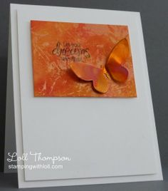 Tone-on-tone Copper Butterfly