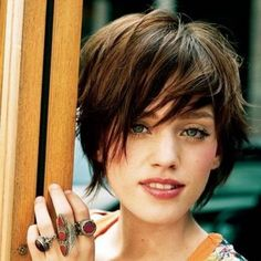 """The long pixie haircut may be cute, but the women who are wearing these styles are certainly more than """"just cute""""! Short pixie cuts are popular because they. Shaggy Short Hair, Long Pixie Cuts, Short Hair Cuts For Women, Long Hair Cuts, Short Hair Styles, Thin Hair, Shaggy Bob, Short Shag, Long Pixie Bob"""