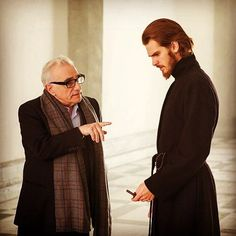 L-R: Director, Martin Scorsese and Andrew Garfield on the set of the film SILENCE by Paramount Pictures, SharpSword Films, and AI Films Andrew Garfield, Martin Scorsese, James Martin, Liam Neeson, Adam Driver, Silence Film, Film 2016, Deadpool, Oscar 2017