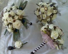 Steampunk bouquets from toptabledesigns.com