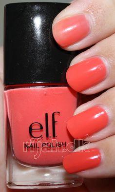 nail polish in Mango Madness Coral Nails, Brand Me, Madness, Elf, Mango, Nail Polish, Hair Beauty, Cosmetics, Makeup