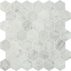 Shower floor MS International, Carrara White Hexagon 12 in. x 10 mm Polished Marble Mesh-Mounted Mosaic Floor and Wall Tile sq. /case), at The Home Depot - Mobile Hexagon Mosaic Tile, Mosaic Wall Tiles, Bathroom Floor Tiles, Marble Mosaic, Wall And Floor Tiles, Shower Floor, Hex Tile, Honeycomb Tile, Shower Walls