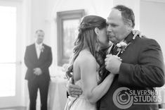 Father daughter dance wedding bride candid